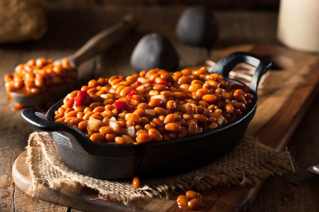 baked beans in skillet